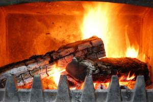 Fireplace for winter