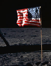 [US Flag on the moon]